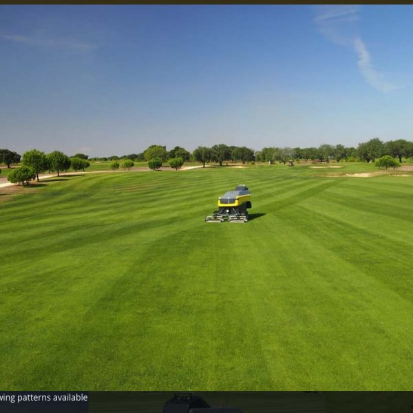 1 Multiple mowing patterns available