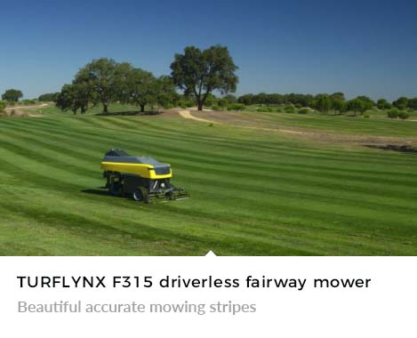 Beautiful accurate mowing stripes with Turflynx F315 Autonomous Mower