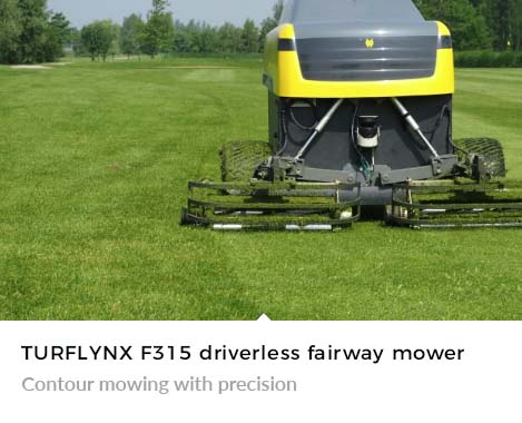Turflynx F315 Autonomous Mower contour mowing with precision