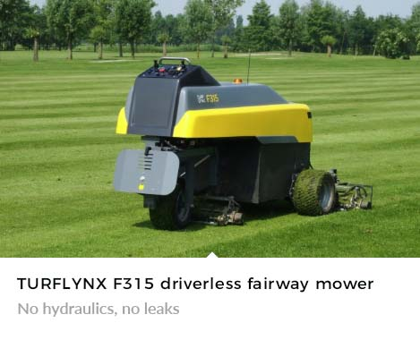 No hydraulics, no leaks with Turflynx F315 Autonomous Mower